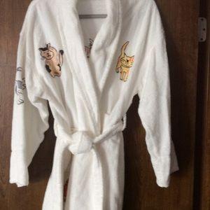 White Turkish cotton kitty robe
